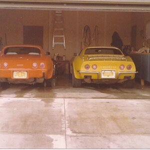 My 1972 and 1976 corvettes.jpg